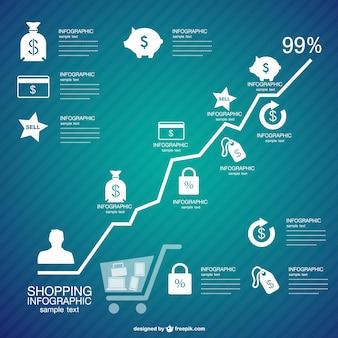 Einkaufen infografik freien grafik