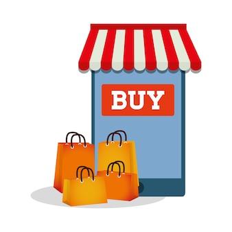 Einkaufen online smartphone technologie kaufen geschenk