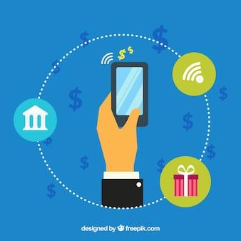 Einkaufen und bezahlen mit smartphone