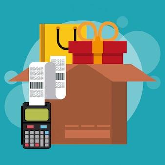 Einkaufen und marketing