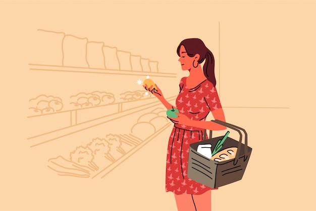 Einkaufen, verkaufen, coice, laden, kaufkonzept