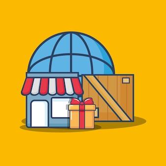 Einkaufs- und lieferungsdesign