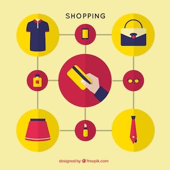 Einkaufsinfografik