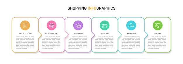 Einkaufsinfografiken illustration