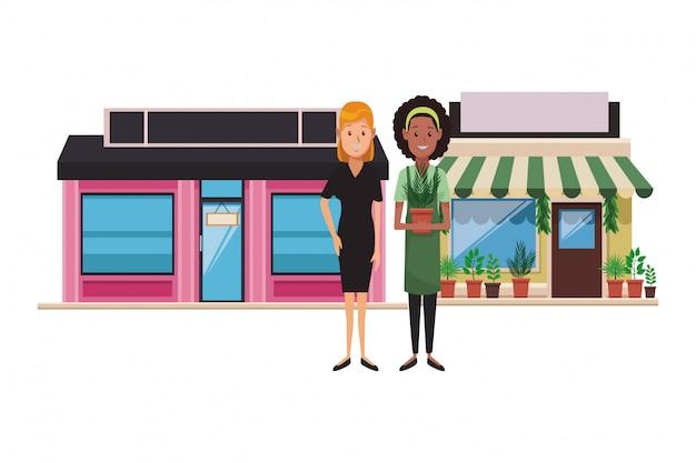 Einkaufsladen grünen haus