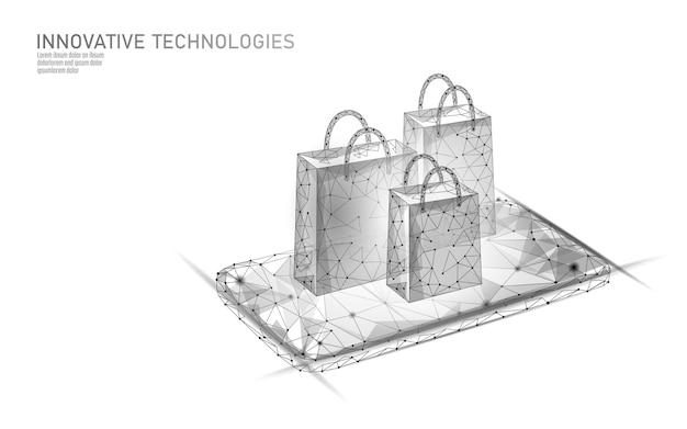 Einkaufstasche . online-shop smartphone handelsmarkt technologie.