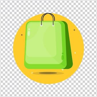 Einkaufstasche-symbol auf leerem hintergrund