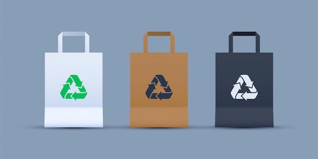 Einkaufstaschen-set recyceln