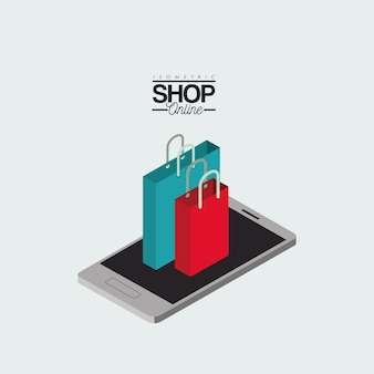 Einkaufstaschen über smartphone