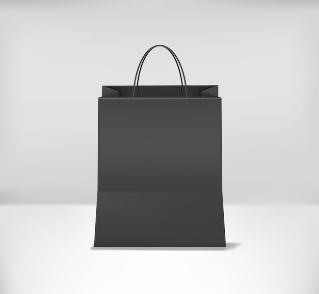Einkaufstaschenmodell realistisch. vorderansicht