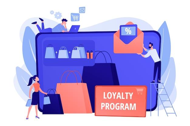 Einkaufsverkauf. rabattangebot. treueprogramm. marketing für kundenattraktionen