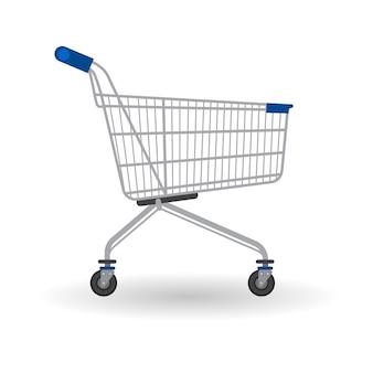 Einkaufswagen-laufkatze-großer verkaufs-fahne