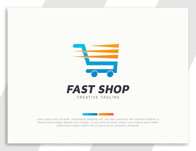 Einkaufswagen-logo mit schnellwirkung