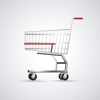 Einkaufswagen. symbol für handel und geschäft