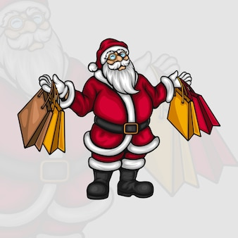 Einkaufszeit von santa claus