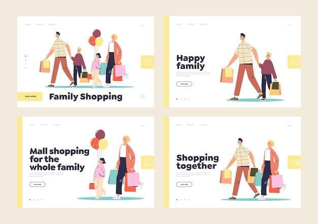 Einkaufszentrum und laden für die ganze familie