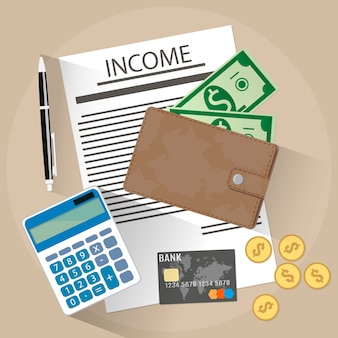 Einkommen illustration