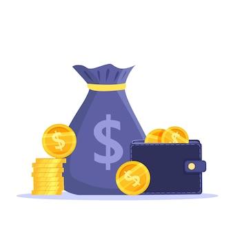 Einkommenswachstum, geldersparnis oder einnahmen erhöhen die finanzillustration