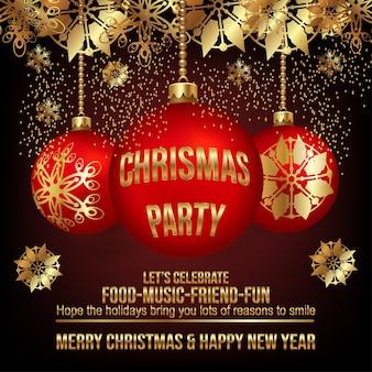 Einladung für eine weihnachtsfeier