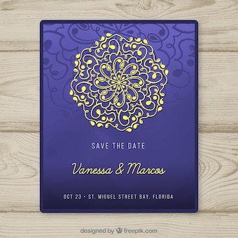 Einladung mit mandala-design
