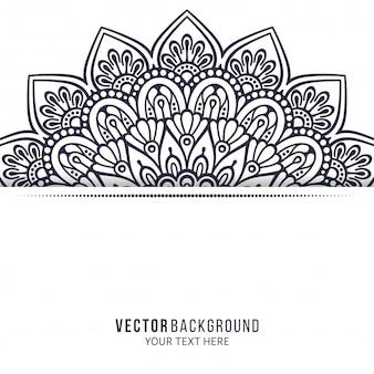 Einladung. vintage dekorative elemente mit mandala