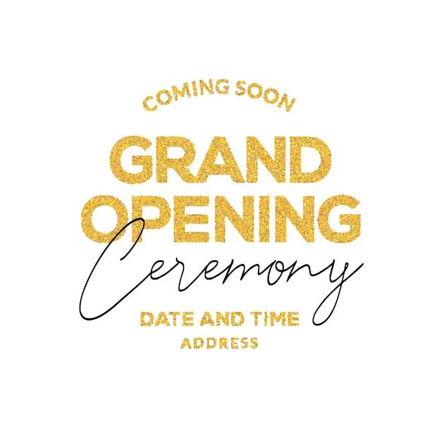 Einladung zur feierlichen eröffnungszeremonie. dekorationsparty-vorlage für die feierliche eröffnung.