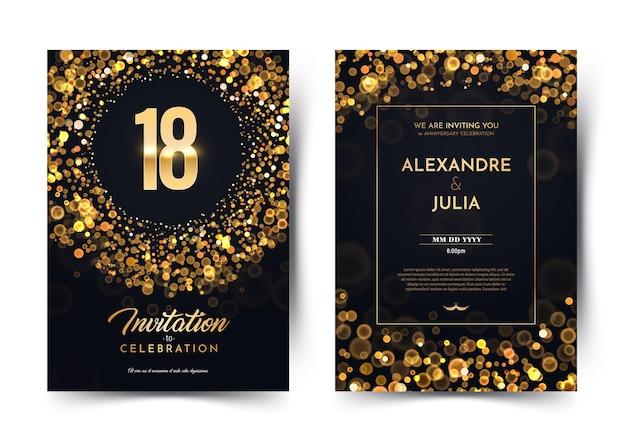Einladungskarte achtzehn jahre hochzeitstag