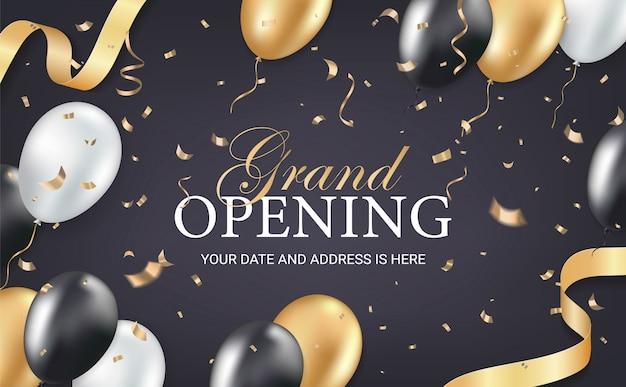 Einladungskarte der großen eröffnungsparty
