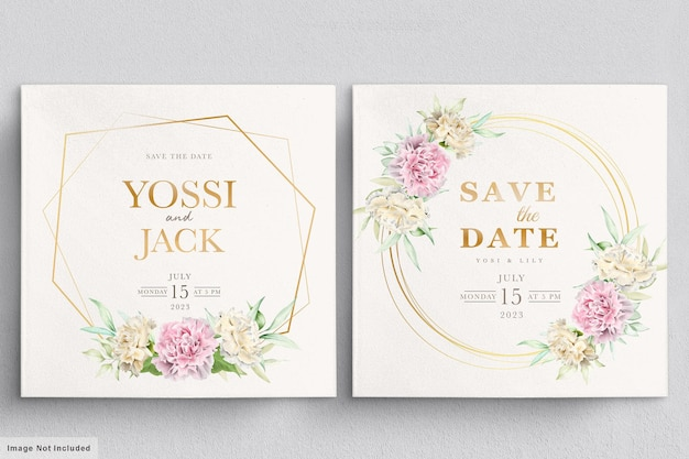 Einladungskarte der nelkenblumen