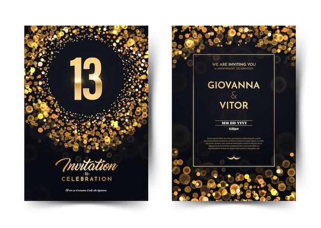 Einladungskarte dreizehn jahre hochzeitstag