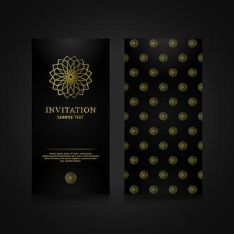 Einladungskarte geometrische zusammenfassung