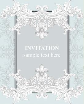 Einladungskarte. königliche viktorianische muster ornament