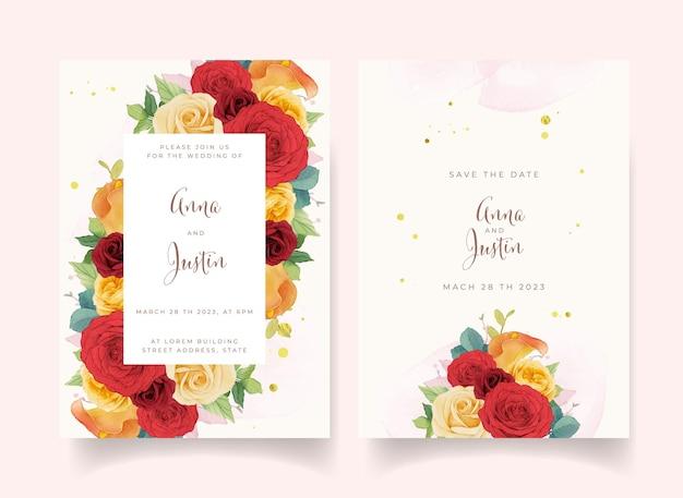 Einladungskarte mit blumen