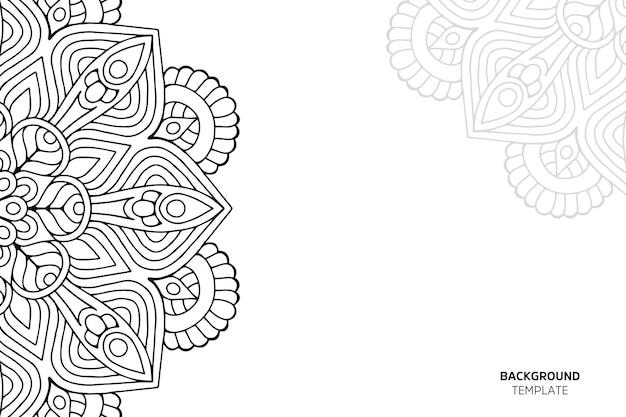 Einladungskarte mit blumenornament-hintergrundgragra