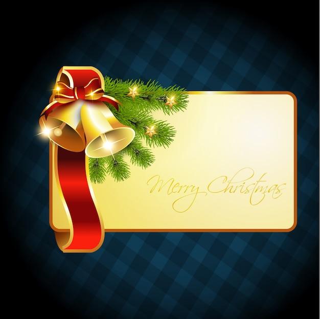 Einladungskarte temaplte weihnachtsglocken