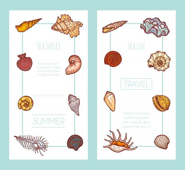 Einladungskarte tropischer urlaub sommerreisezeit, konzept web banner illustration. urlaubsparadiesplatz, postkarte.