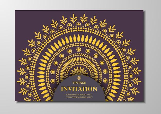 Einladungskarte vintage-design Premium Vektoren