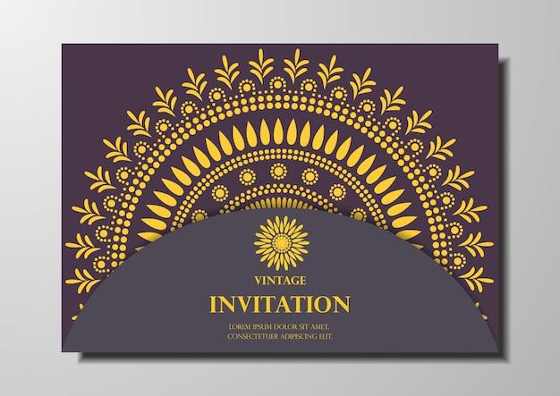 Einladungskarte vintage-design