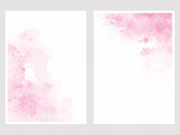 Einladungskartenhintergrund-schablonensammlung des rosa aquarellwäschespritzens 5x7