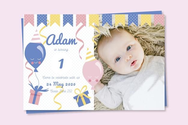 Einladungsschablone der kindergeburtstagskarte