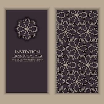 Einladungsschablone mit arabischen dekorativen elementen