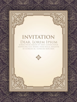 Einladungsschablone mit eleganter weinlesedekoration