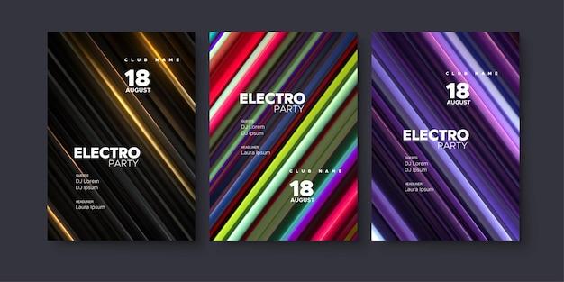 Einladungsvorlage für elektronische musikfestival-club-party.