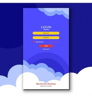 Einloggen seite design premium