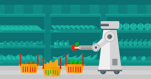 Einsatz von robotertechnologien beim einkaufen.