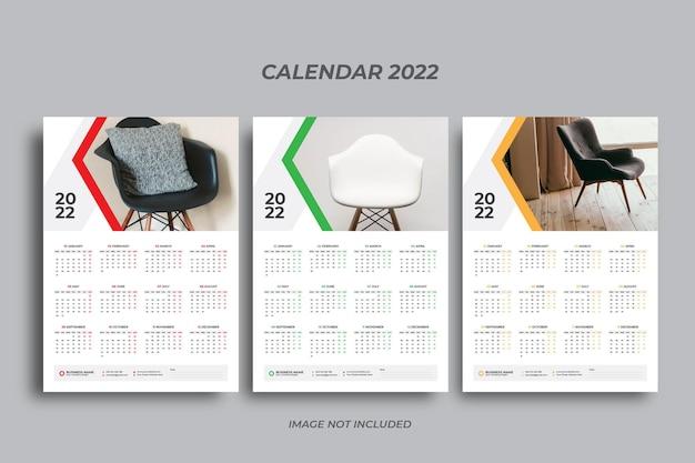 Einseitiger wandkalender 2022