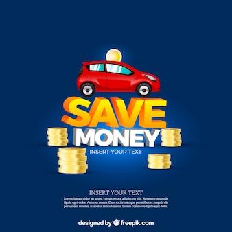 Einsparung hintergrund für ein auto