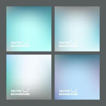 Einstellen. verschwommene hintergründe. mehrfarbiger unscharfer hintergrund für design, website, infografik-poster, kartenwerbung