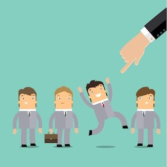 Einstellung oder rekrutierung