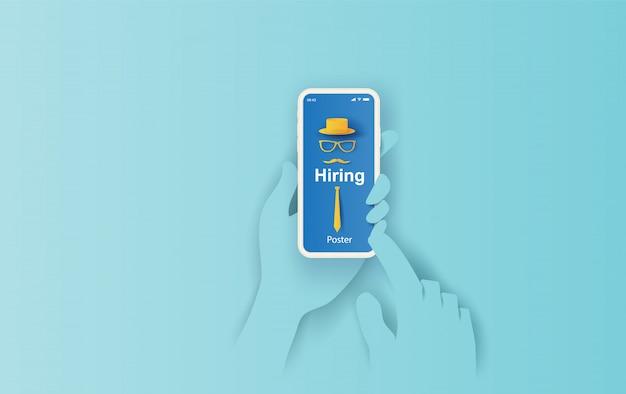 Einstellung und rekrutierung auf dem smartphone